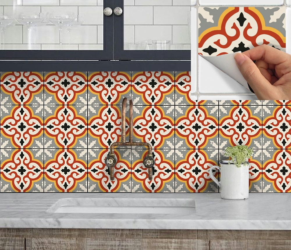 Cool Idea: Removable Wallpaper Tiles  zoom