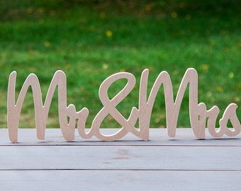 Mr and Mrs Sign, DIY unpainted, Wedding Decor, Sweetheart Table Decor, Head Table Decor, Cake Table, Wedding Signs, Bride and Groom