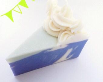 Lavender & Lime Cake Soap Slice
