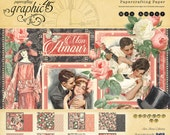 Graphic 45 Mon Amour 12x12 Paper Pad, SC007559