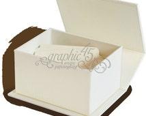 Graphic 45 ATC Book Box-Ivory SC007570