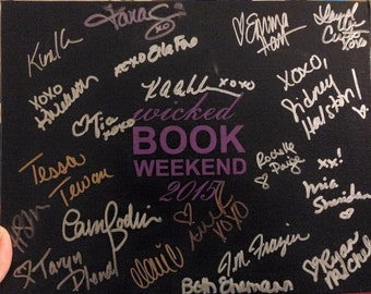 """CUSTOM BOOK signing CANVAS Anything you want it to say 8 x 10"""""""