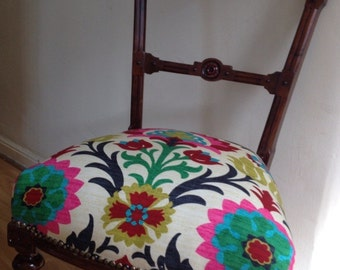 Bright bespoke victorian style chair