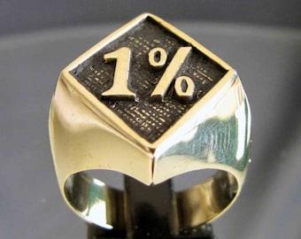 bronze ring Biker 1 % outlaw NEW (9,5)