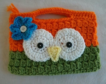 Owl Crochet Purse