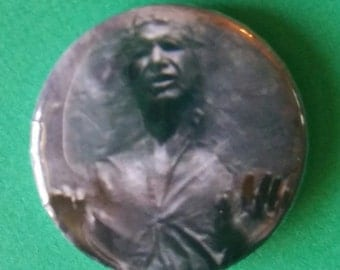 """Han in carbonite       1"""" Button"""