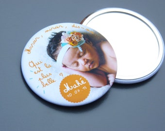 birth announcements mirror