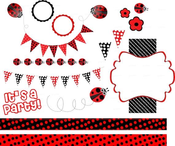 Clipart ladybug ladybug vector clipart party printable digital il570xn stopboris Image collections