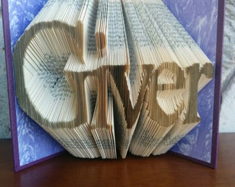 Giver - Folded Book Art - Fully Customizable, service, religious, leader, helper, assistant