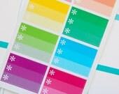 8 Rainbow Checklist Half Boxes  - Planner Stickers for Erin Condren Life Planners