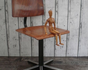industrial childrens stool, childrens chair, school chair, plywood chair
