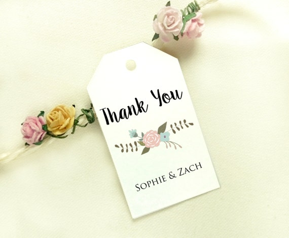 Wedding Gift Bag Tags Template : Floral Favor Tag Template, Favor Tag Printable, Wedding Tag, Favor Tag ...