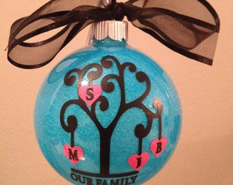 Personalized Family Tree Christmas Ornament