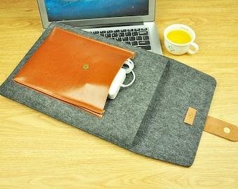 laptop sleeve macbook pro 15, macbook pro  2016 touchbar case, apple accessories macbook pro 2016 case, macbook 12 laptop bag felt--TFL132