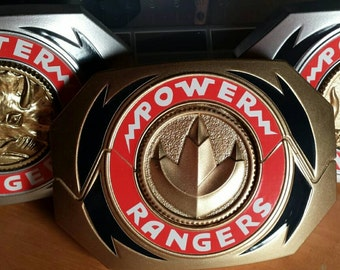 Mighty Morphin Power Rangers prop morpher buckle finished and wearable and one coin