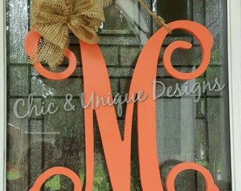 Large Wooden Initial