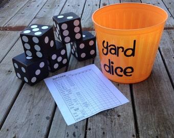 Yard Dice game - Yard Yahtzee - Yard Bunko