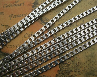 2meter 3.5x3.5mm White K Flat Oval Chain A