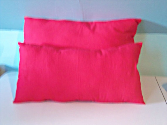 Decorative Throw Pillow Set Solid Red Flannel by PillowsForNow