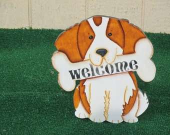 Cute Dog Welcome sign