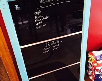 Decorative chalkboard - window chalkboard - kitchen chalkboard - old window decor - bistro board chalk board - 6 pane window decor