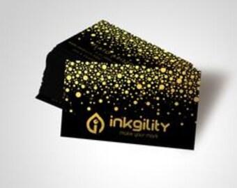 250 Metallic Finish Business Cards