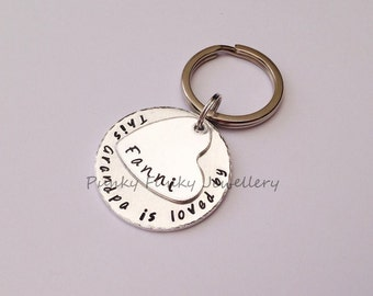 This Grandad is loved by personalised keyring - gift for new Grandparent - Gift for Grandad - Gift from Grandchild - Gift for Dad