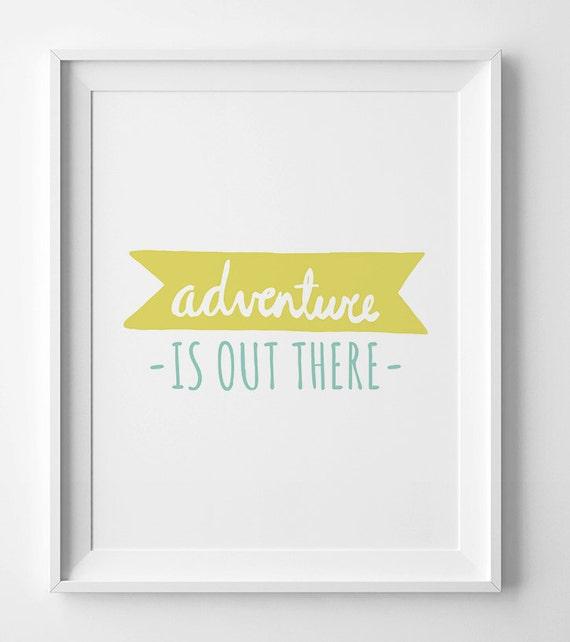 Digital Print Kids Birthday Gift Adventure By WallArtPrintables