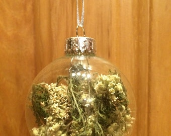 Dried Yarrow Ornament