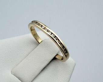 Simple Channel Set Diamond 14K Gold Band #75YGDIA-B1