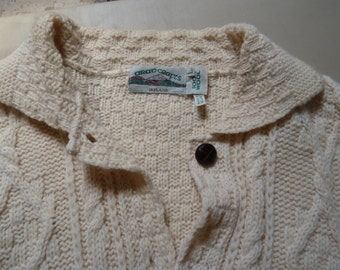 mans classic irish cardigan sweater by aran crafts outstanding workmanship