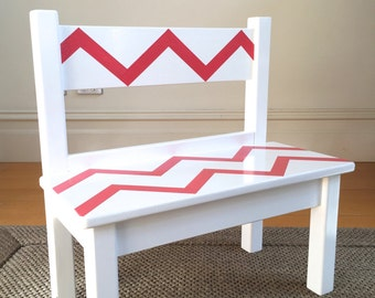 Bench - Children's Bench Seat, Wooden Bench Seat for Children, Children's Furniture, Seating, Painted Bench Seat