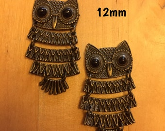 12mm dangle owl plugs for stretched ears