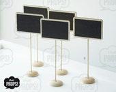 Set of 5 Chalkboard Table Sign, Chalkboard Sign, Wedding Party Food Sign, Party Food Label, Wedding table marker, Chalkboard Sign
