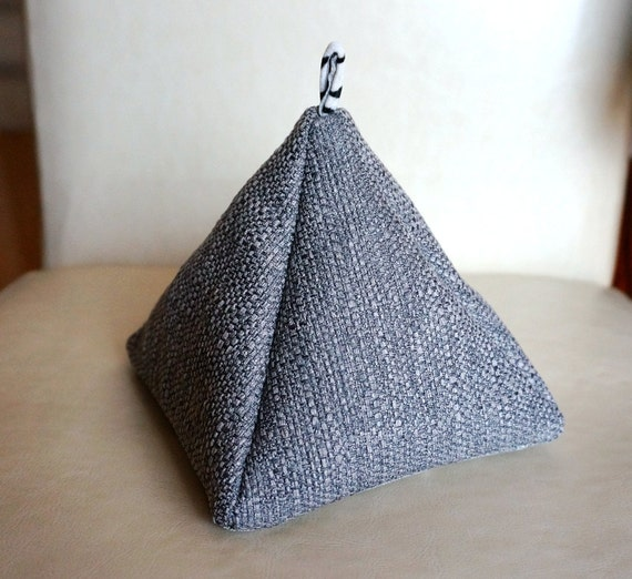 how to make door stops fabric pyramid