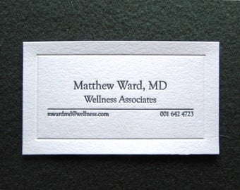 Letterpress stationery invitations business by keystoneletterpress 50 letterpress business cards elegant design blind debossed frame reheart Choice Image