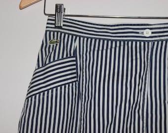 1980s Lacoste Skort Striped