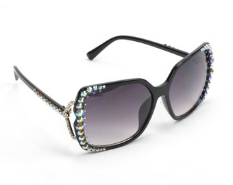 Fashion Bloggers Sunglasses Black With Crystals