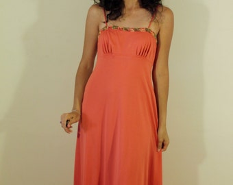 Summer Lovin' 1970s Vintage Dress