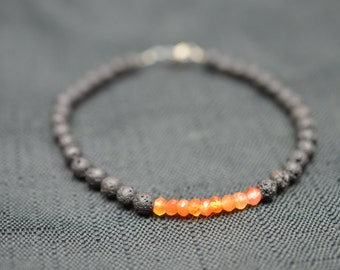 Volcano inspired gemstone bracelet