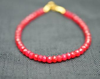 Ruby bracelet - July birthstone