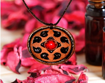 Aromatherapy pendant essential oil perfume necklace Terracotta Clay fragrance diffuser #G15