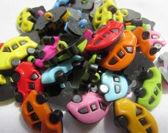 Pack of 10 Two Tone Car Buttons