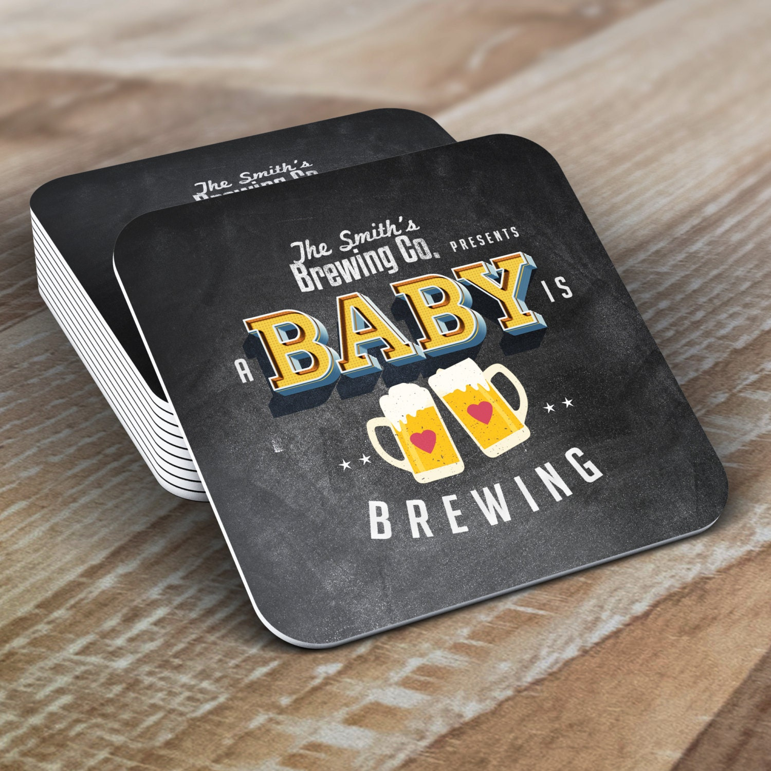 coaster baby is brewing coed baby shower invitation beer baby shower invitation couples baby shower bbq party decor