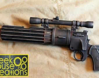 Boba Fett Blaster from Empire Strikes Back with Light & Sound!