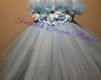 Tea Length flower tutu dress