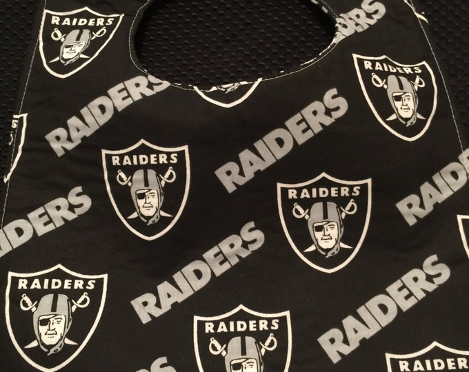 Baby Bib Oakland Raiders, 3 Sizes and 2 Colors To Choose From!