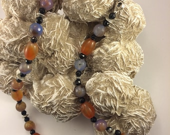Carnelian, fire agate necklace