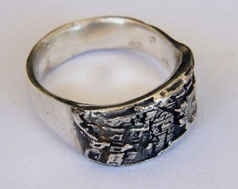 Jerusalem Ring - City Ring - 925 Sterling Silver - Architecture Ring - Map Jewelry - Holy Land Ring - Judaica - City Jewelry - Skyline Ring