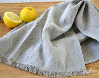 "Linen Kitchen Towel,  30"" x  16,"" Natural Linen Dish Towel, Grill Towel, Washable, Large Napkin, Organic Flax"